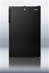 AccCold CM421BL7 Undercounter Refrigerator/Freezer - Black w/ Lock (Hospital)