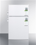 AccuCold CP351WLLMED Compact Two-Door Refrigerator/Freezer w/ Side Locks