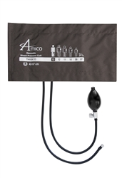 Amico Thigh Blood Pressure Cuff w/ 2 Tubes, Inflation Bulb & Female Threaded Screw