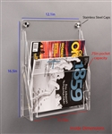 Poltex Deco 3up Document Holder (Stainless steel Cap 2, 3 Anchors)