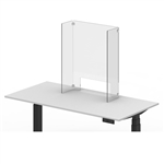 "Luxor Reclaim Acrylic Counter Sneeze Guard - 24"" x 30"" Freestanding, Clear"