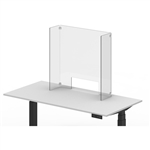 "Luxor Reclaim Acrylic Counter Sneeze Guard - 30"" x 30"" Freestanding, Clear"