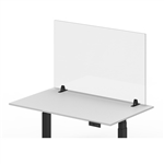 "Luxor Reclaim Acrylic Sneeze Guard Desk Divider - 48"" x 30"" Tabletop, Clear"