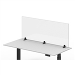 "Luxor Reclaim Acrylic Sneeze Guard Desk Divider - 60"" x 24"" Tabletop, Clear"