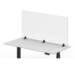 "Luxor Reclaim Acrylic Sneeze Guard Desk Divider - 60"" x 30"" Tabletop, Clear"