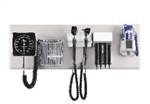 Amico Diagnostic Station - Halogen Otoscope & Ophthalmoscope, Specula Dispenser, Aneroid, Oral Thermometer & Wall Board