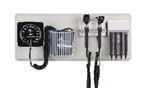 Amico Diagnostic Station - Otoscope & Ophthalmoscope, Specula Dispensor, Aneroid, Basket & Wall Board