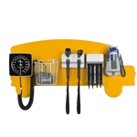 Pediatric Diagnostic Station - School Bus Wall Board, Coaxial Ophthalmoscope (LED), Fiber Optic Otoscope (LED), Specula Dispenser, Aneroid BP, Child Cuff, Cuff Basket & Oral Digital Thermometer