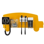Pediatric Diagnostic Station - School Bus Wall Board, Coaxial Ophthalmoscope (LED), Fiber Optic Otoscope (LED), Specula Dispenser, Aneroid BP, Child Cuff & Cuff Basket