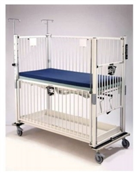 ​Epoxy Infant ICU Crib 4 Side Release, Flat Pan Trendelenburg 30 X 44"