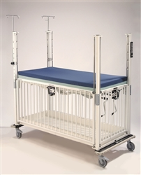 Epoxy Child ICU Crib - 4 Side Release - Flat Pan - 30 x 60""