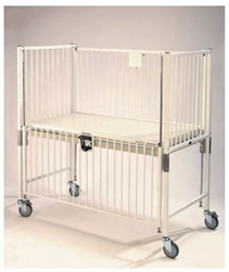 Epoxy Child ICU Crib - 4 Side Release - Flat Pan Trend - 30 x 60""