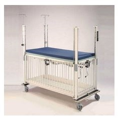 Epoxy Youth ICU crib - 4 Side Release - Gatch - 36 x 72""