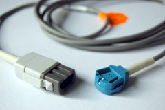 GE TruSat OxyTip OXY-MC3 Compatible SpO2 Adapter Cable