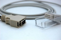 Nellcor 7 pin SpO2 Adapter Cable SCP-10 MC-10