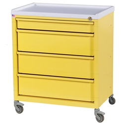 ETC Line, Four Drawer, Treatment Cart, Key Lock