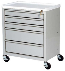 ETC Line, Five Drawer, Treatment Cart, Key Lock