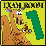 Clinton Animal Character Exam Room Signs