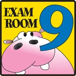 Exam Room 9 Sign