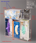 Poltex Exam Room Organizer - Glove Boxes, Tissues, Pens, Business Cards