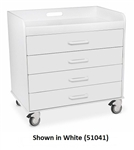 "TrippNT Polyethylene/ABS Extra Wide Compact Locking Cart (27"" W x 27"" H x 17"" D)"