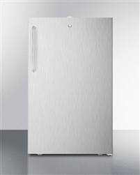 AccuCold FF511L7CSS Wide Built-In ADA Undercounter Refrigerator (Hospital, Stainless Steel)