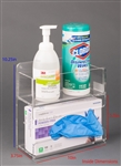 Poltex Glove Box Holder With Bin (Wall Mount)