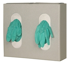Glove Box Dispenser - Double with Divider