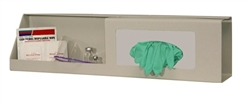 Bowman Glove Box Dispenser - Single with Shelf