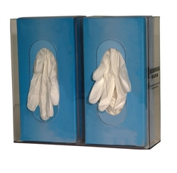 Bowman Glove Box Dispensers - Double with Dividers