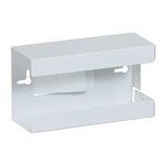 Single White Steel Glove Box Holder