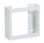 Clinton Double White Steel Glove Box Holder