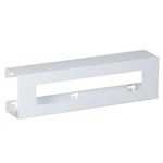 Clinton Double Slimline White Steel Glove Box Holder