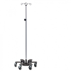 Clinton Chrome 6-Leg Heavy Base Infusion Pump Stand, 4 Hooks