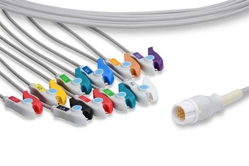 Philips MRx/Codemaster 100 10-lead ECG Cable (Pinch Grabber)