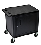 "26"" Endura A/V Cart - Two Shelves, Cabinet"