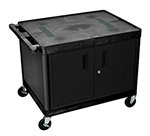 "27"" Endura A/V Cart - Two Shelves, Cabinet"