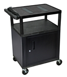 "34"" Endura A/V Cart - Two Shelves, Cabinet"