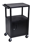 "42"" Endura A/V Cart - Two Shelves, Cabinet"