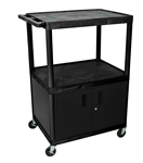 "48"" Endura A/V Cart - Two Shelves, Cabinet"