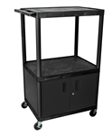 "54"" Endura A/V Cart - Two Shelves, Cabinet"
