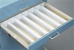 "Lakeside Mini Cart Plastic Divider Set 6"" Drawer"