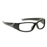 Techno-Aide Turbo Guard Radiation Protection Glasses: Black