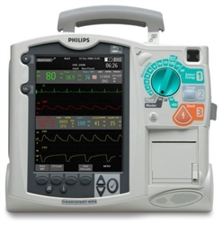 Philips Heartstart MRx - 12-lead ECG, Pacing, SpO2, NIBP, EtC02, and AED (Refurbished)