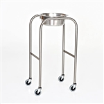 Mid Central Medical Stainless Steel Single Bowl Solution Stand