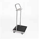 Mid Central Medical Stainless Steel Stirrup Cart