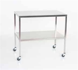 Stainless Steel Instrument Tables/Back Tables with Shelf