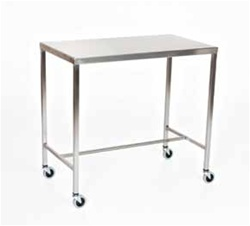 Mid Central Medical Stainless Steel Instrument Tables/Back Tables with H Brace