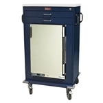Harloff MH Cart, 1.8 Cubic Feet Medical Grade Refrigerator, Two Drawers with Key Lock