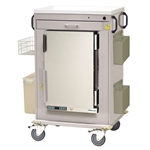Harloff MH Treatment Cart, 1.8 Cubic Feet Medical Grade Refrigerator, One Drawers with Breakaway Lock